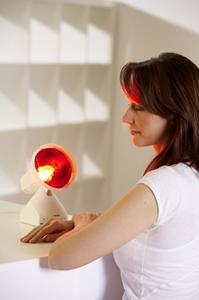 Rotlichtlampe Anwendung